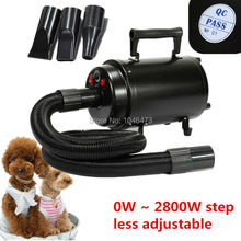 (Ship from Germany)  2800W Portable Dog Cat Animal Grooming Blow Hair Dryer Pet Dryer Heat Blower Blaster with 3 Nozzle EU Plug
