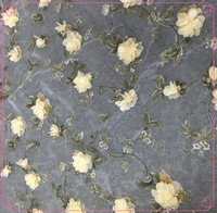 FREE SHIPPING 3D Flowers Embroidery Chiffon Lace Fabric Print Lace Fabric For Wedding Dress Flower French