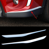 2016 New Car Styling 2pcs Set Front Grille Cover Decoration Trim Strips For Suzuki Vitara 2016