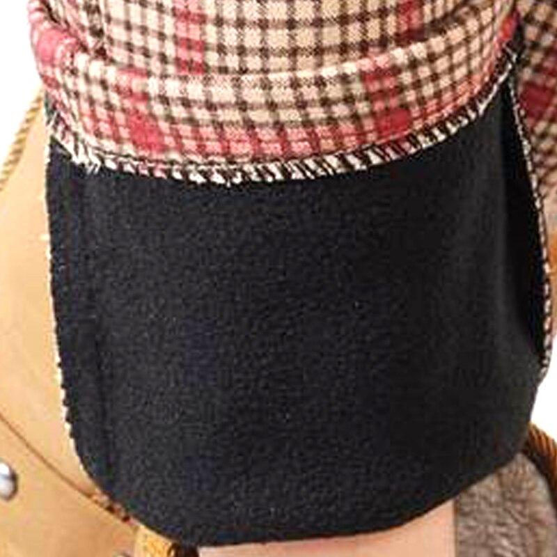 Grande Más Terciopelo Escocesa Térmicos Invierno De Pantalones Negro Casual Algodón Tela Mujer rosado Talla Para aHxqBw