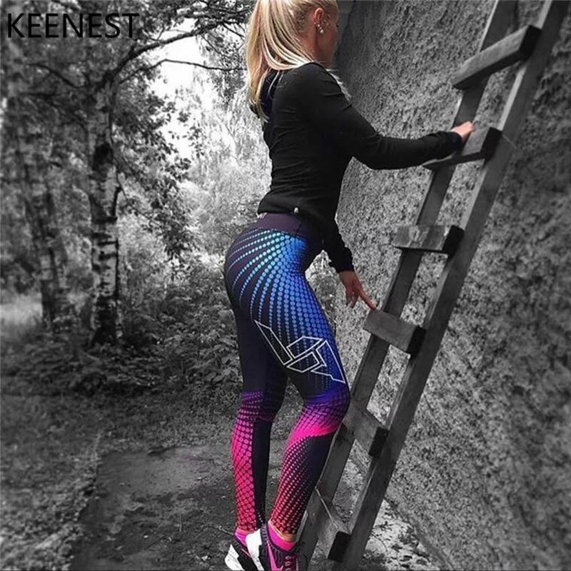SchÄrfsten Sport Leggings Frauen Yoga Hosen Workout Fitness Jogging Laufhose Gym Strumpfhosen Stretch Drucken Sportswear Yoga Leggins Angenehm Im Nachgeschmack Laufstrumpfhosen Sport & Unterhaltung