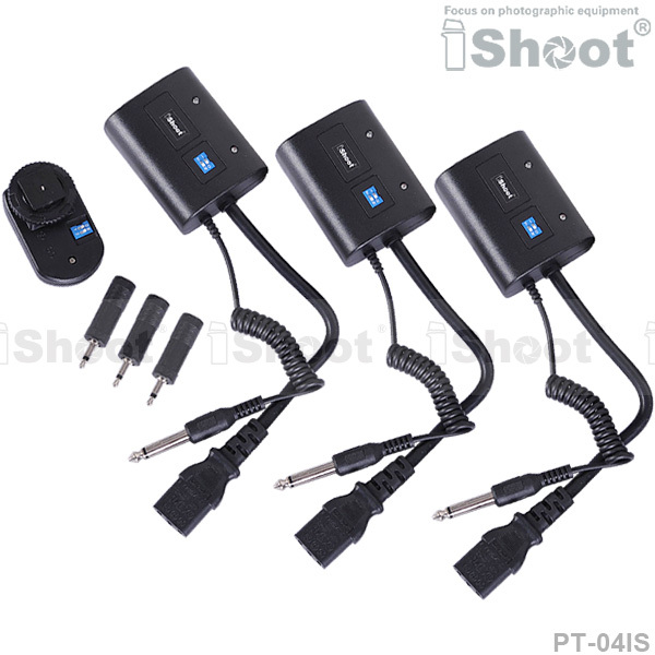 Wireless Radio Flash Trigger Controller PT 04IS for 3 5mm 6 35mm SYNC JACK Photo Studio