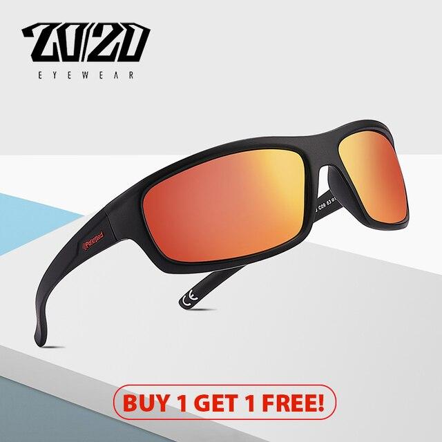 20/20 Brand Design Vintage Polarized Sunglasses Men Fishing Shades Driving Male Retro Square Sun Glasses Oculos Eyeglasses