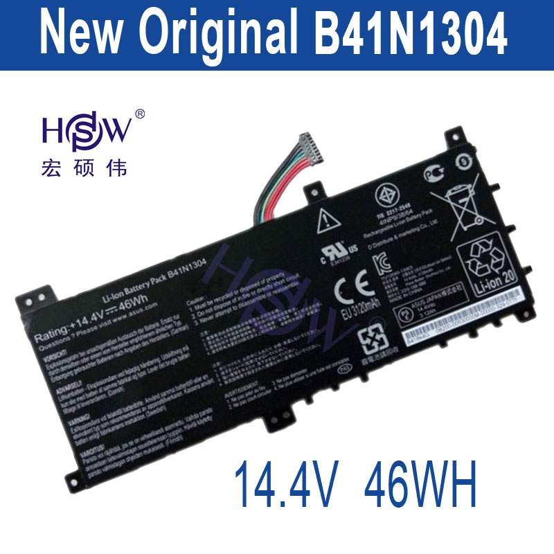 все цены на HSW New New Laptop Battery B41N1304 For ASUS VivoBook V451L V451LA Laptop Battery B41N1304 14.4V 46W онлайн