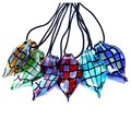 Hot Selling Lampwork Glass Pendant Murano Glass Pendant Necklace Free Shipping Summer Grid twisted leaves Necklace Women