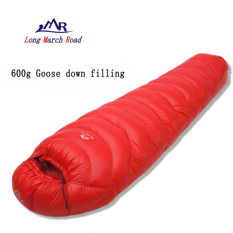LMR 600G goose down filling outdoor camping splicing mummy ultra-light sleeping bag filling 3000g outdoor camping winter sleeping bag goose down splicing mummy ultra light goose down sleeping bag