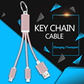 3 in 1 Cable USB keychain fast charging Cable Multi Charging Port For iphone SE 5 5S 6 6S Samsung Xiaomi Huawei Meizu