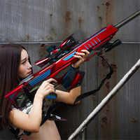 Pistola de balas de agua infrarroja juguetes para niños pistola de Rifle de francotirador de plástico suave Paintball CS juegos al aire libre pistolas de juguete para niños regalos