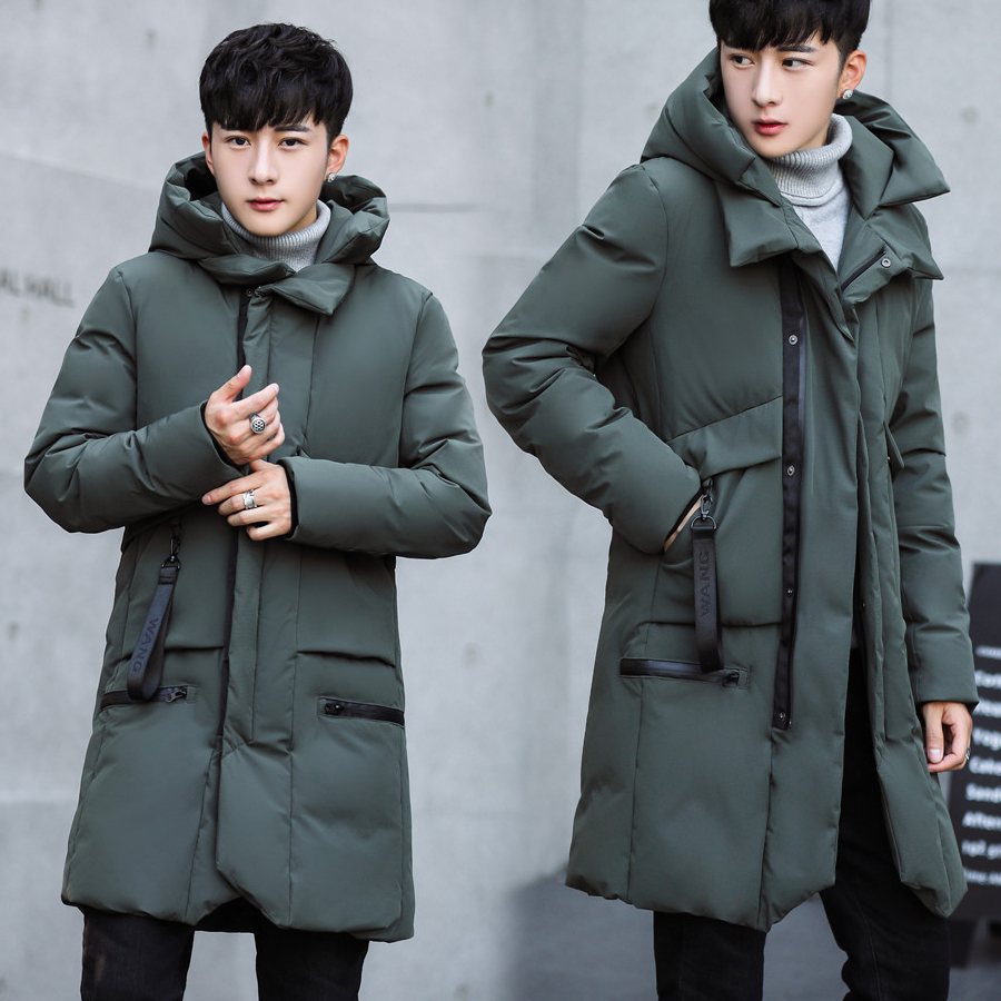Winter Men Thick Jacket&Coat Hooded Zipper Pocket Parkas High Quality Korea Fashion Slim Cotton Outwear Male Clothing SY0037 women winter cotton hooded coat 2017 fashion long slim solid warm parkas high quality female wadded jacket zipper outwear yp0537