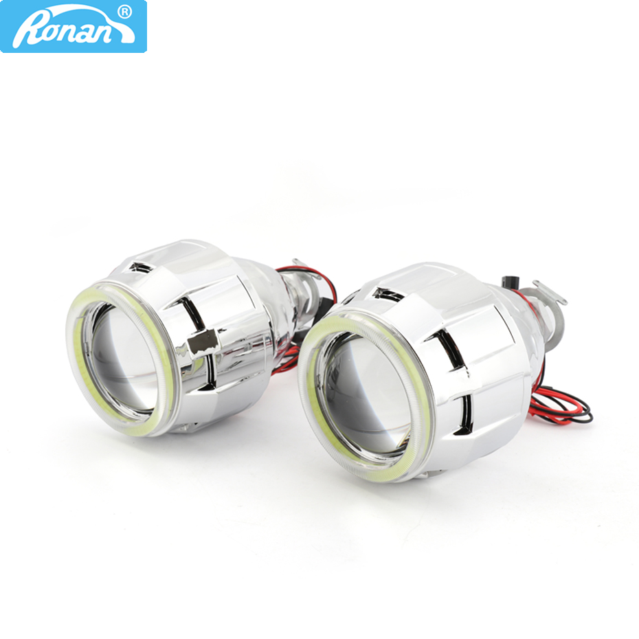 RONAN 2 5 Bi Xenon H1 Ultimate Projector Headlight HID Lens 7 1 8 1White LEDs
