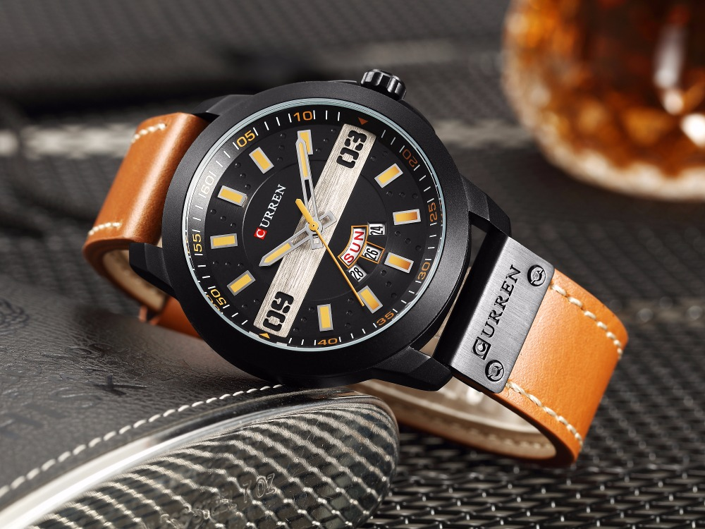 CRRREN 2019 Fashion Classic Mens Watch Leather Watch Luxury Mens High Quality Military Sports Quartz Watch Waterproof Hot SaleCRRREN 2019 Fashion Classic Mens Watch Leather Watch Luxury Mens High Quality Military Sports Quartz Watch Waterproof Hot Sale