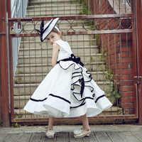 Robe de bal royale robe de princesse robes de soirée d'anniversaire Style Vintage robes de demoiselle d'honneur robes de mariée enfants fille Vestidos D147