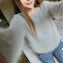 Новое поступление свитер из натуральной норки и кашемира теплая зимняя Роскошная Шуба из натурального меха FP613