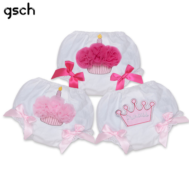 GSCH Baby Ruffle Bloomers Cupcake Briefs PP Girls Shorts Layers Baby Diaper Cover Pants Cotton Toddler Shorts Ruffled Panties