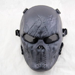 Image 2 - Black God Airsoft Paintball Skull Full Face Protection Mask for Outdoor Wargame Tactical Gear CS War