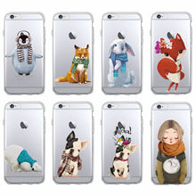 3ac65bd171 Warm Winter Bunny Fox Bulldog Penguin Polar Bear Soft Phone Case Coque For iPhone  7 7Plus 6 6S 6Plus 8 8Plus X XS MAX SAMSUNG