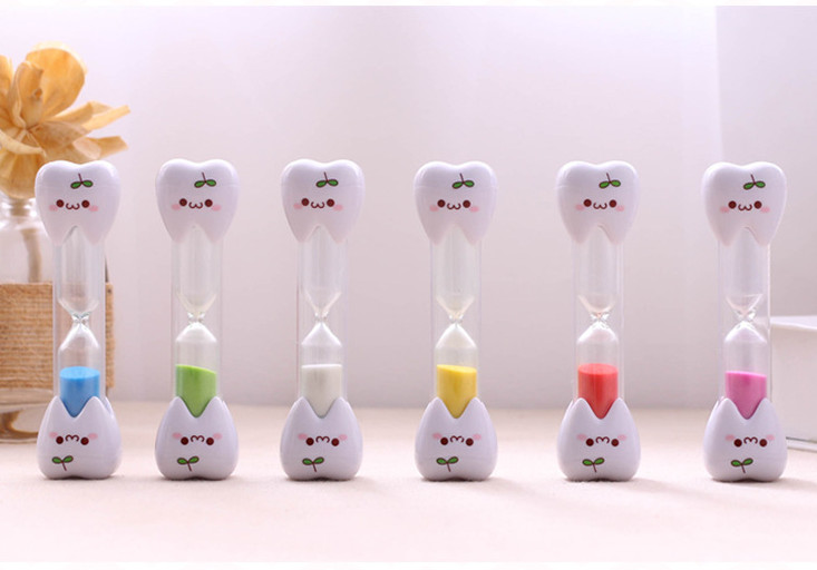 2minute Hourglass Sand Timer Clock Smiley Face Children Toothbrush WYS Sales