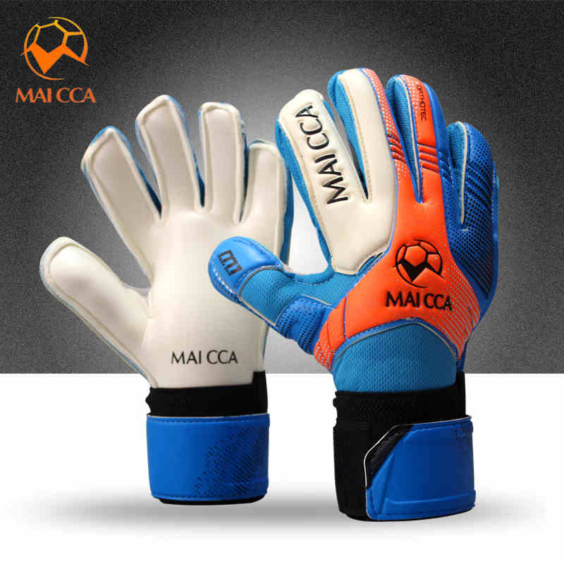Children Football Goalie Gloves Latex Finger Protector Size 5 6 7 Professional Soccer ...