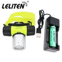 防水xmL T6ダイビング水泳ヘッドランプ水中ヘッドライト釣りランプ使用18650バッテリーled懐中電灯