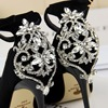 BIGTREE Elegant Crystal Pointed Toe Wedding Shoe 2018 New Women's Solid Flock Fashion Buckle Shallow High Heels Shoes for Women 3