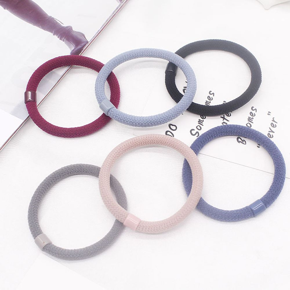 10 PCS Colorful Women Elastic Cloth Hair Bands Hair Tie Ring Rope Girls Ponytail Holder Headwear Accessories Hair Styling Tools