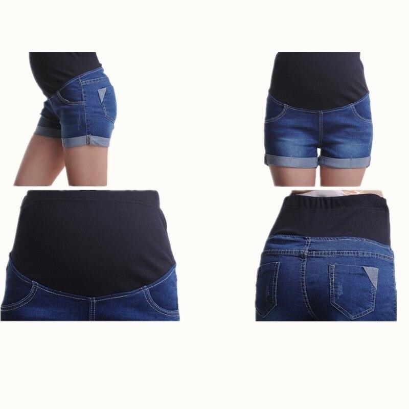 d18ace3c7 BAHEMAMI de Denim corto verano Pantalones vaqueros para mujeres embarazadas  Gravidas ropa embarazada pantalones elástico Abdominal Vaqueros en  Pantalones ...