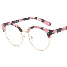 Korean Retro Eyeglasses Frame Vintage Round Prescription Glasses Frame Myopia Optical Glasses Black Eyewear Frame For Women Men
