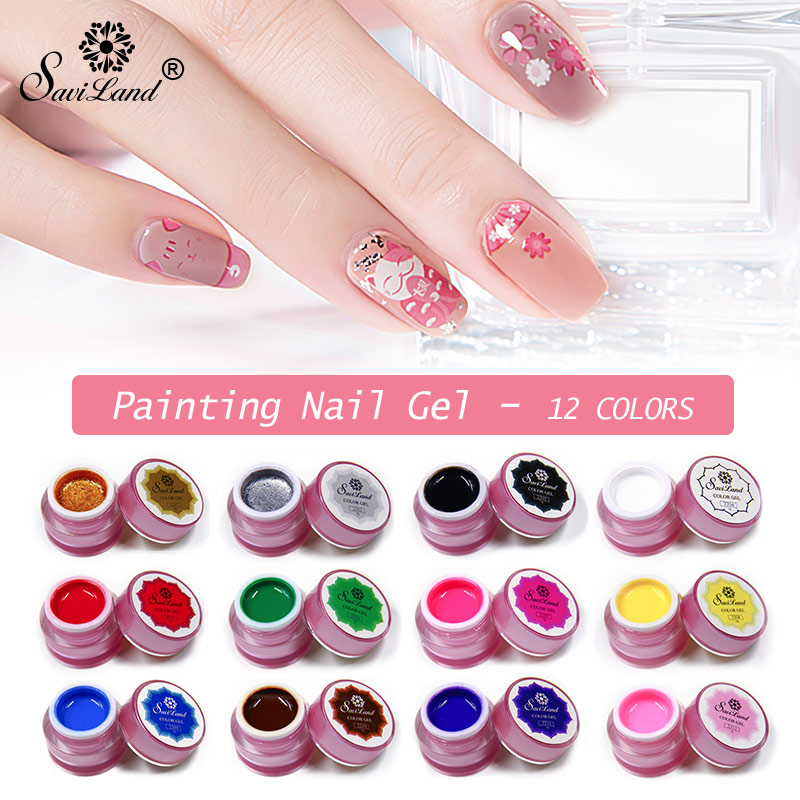 Nail Art Paint Color Gel Draw Painting