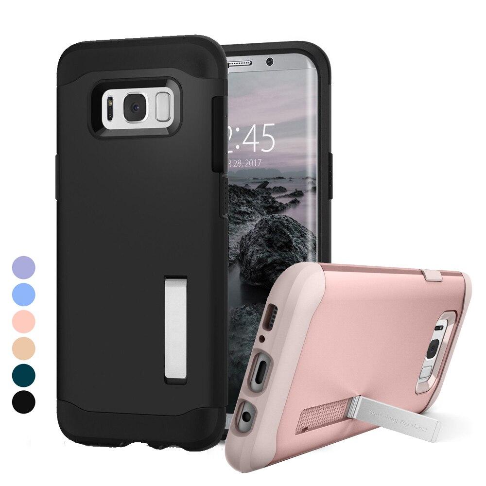 """imágenes para 6.2 """"Original Caja de la Armadura Delgado para Galaxy S8 Además de Doble capa de Protección Shield Cases para Samsung Galaxy S8 Más con pata de cabra"""