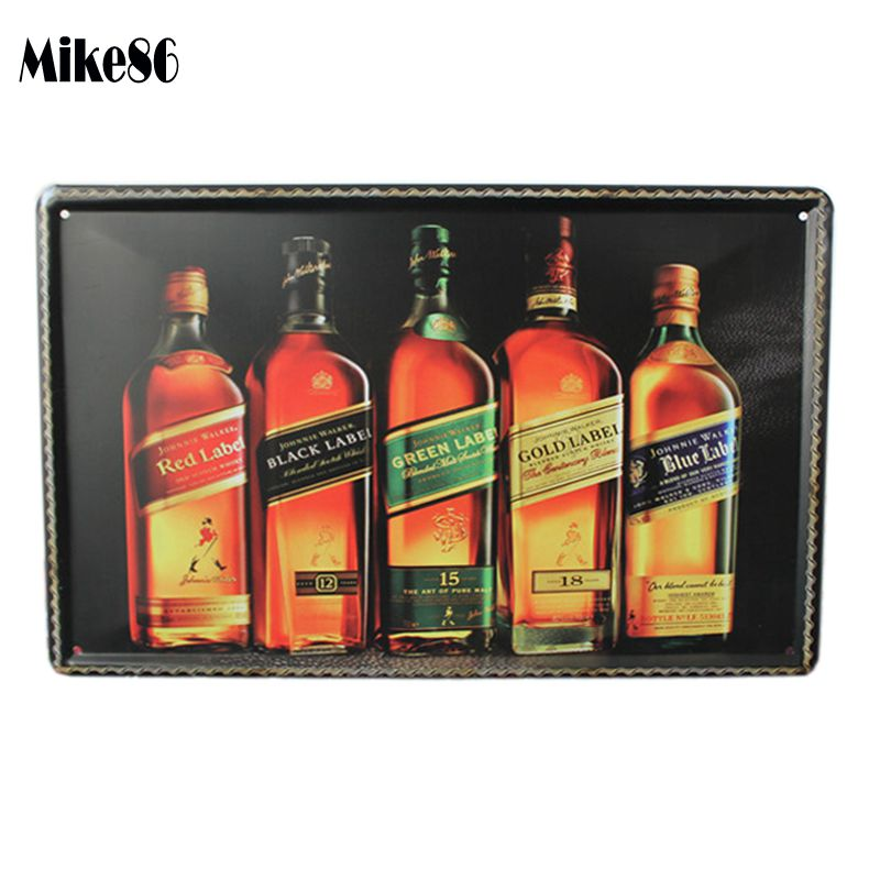 [ Mike86 ] Wine Tin Sign Retro Wall decor Bar House Antique Metal Painting A-385 Mix order 20*30 CM Free shipping