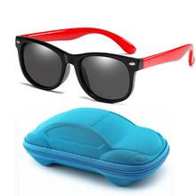 New Hot Sale Kids Polarized Sunglasses with Case Children Safety Silicone Sun Glasses Boys Girls Baby UV400 Eyewear Gafas de sol