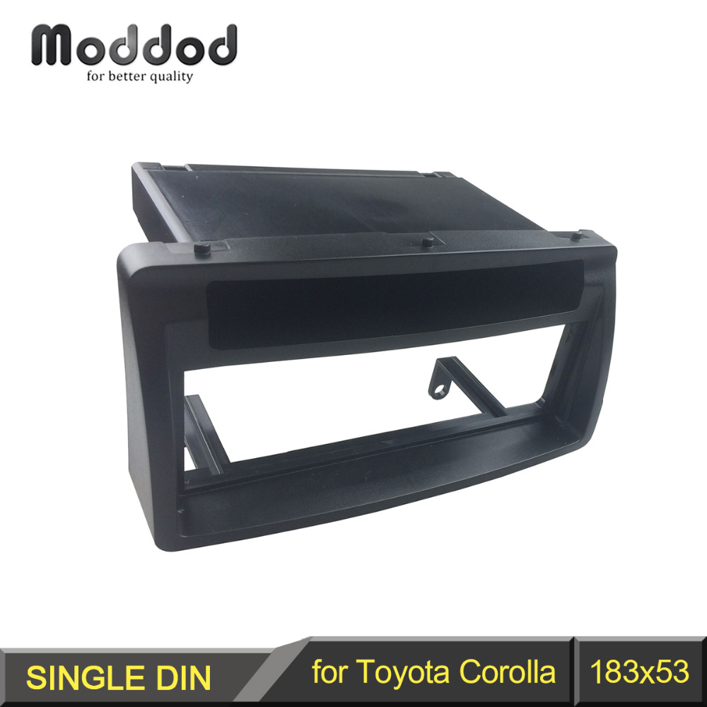 Single Din Fascia for TOYOTA Corolla w/pocket Radio CD Stereo Panel Dash Mount Installation Trim Kit Frame Facia