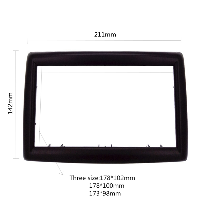 Image 2 - 2 DIN Adapter CD Trim Panel Stereo Interface Radio Car Frame Panel Fascia for RENAULT Megane II 2003 2009 2Din-in Fascias from Automobiles & Motorcycles