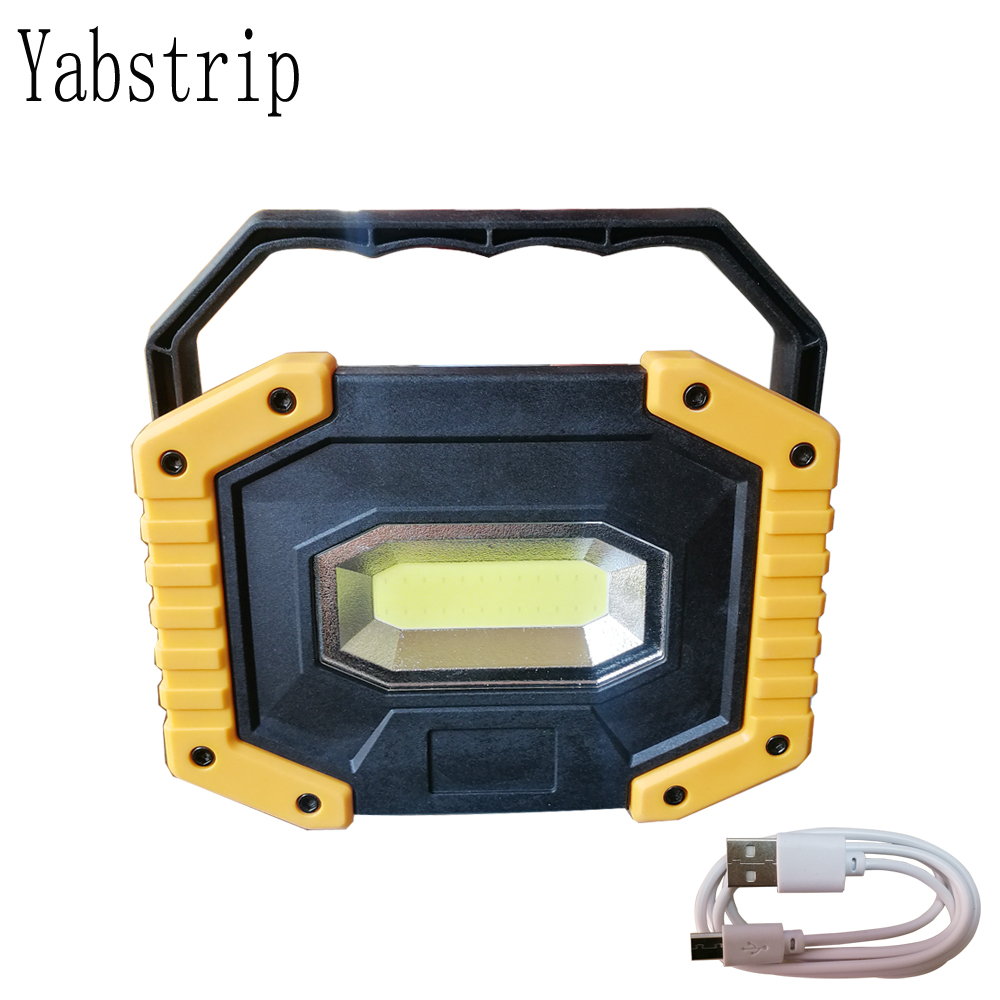 Led Portable Spotlight Rechargeable 18650 Battery Outdoor Searchlight Work Light Lamp For Hunting Camping COB Led Flashlight