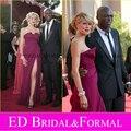 Heidi Klum alta fenda vestido de noite Formal de 2007 Emmy Awards celebridade do tapete vermelho inspirado vestido de baile