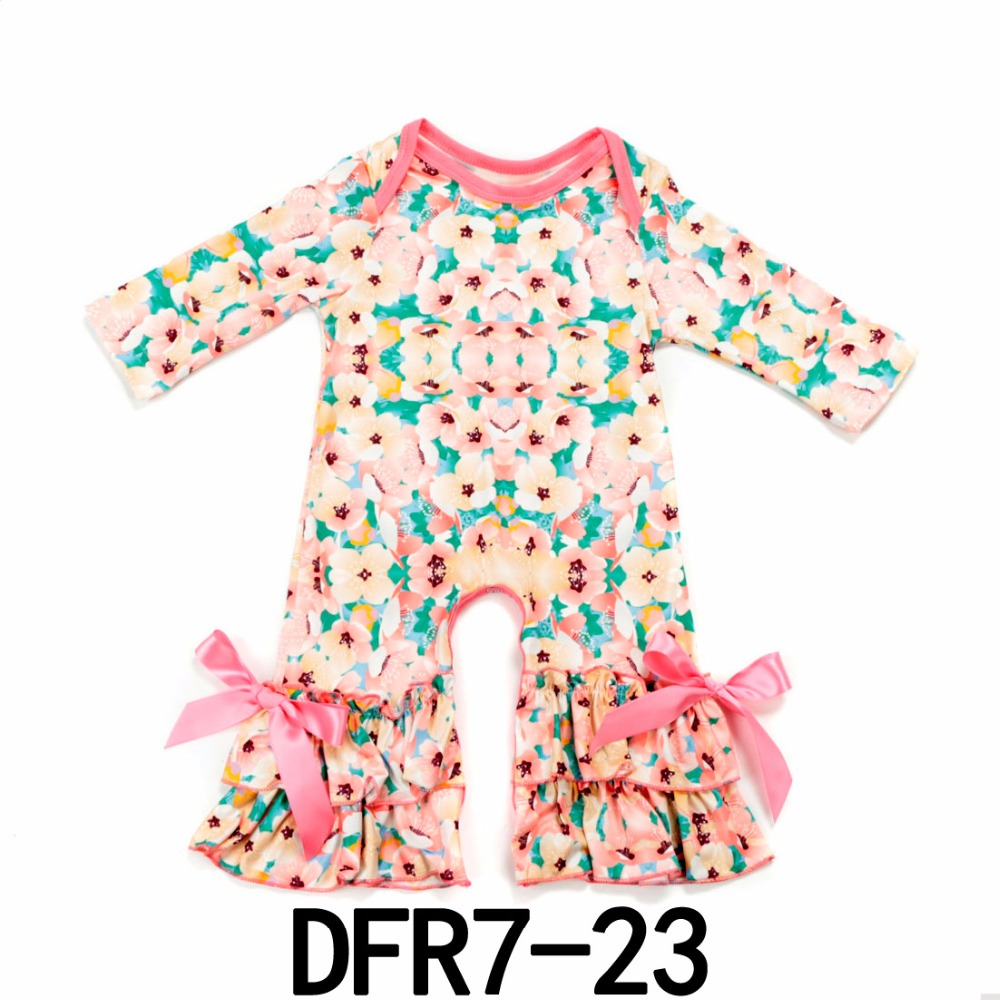New prints ruffled Romper Baby girl romper Easter Day outfits Infant Sleepers baby girls pajama gown Buffalo Valentine jumpsuit