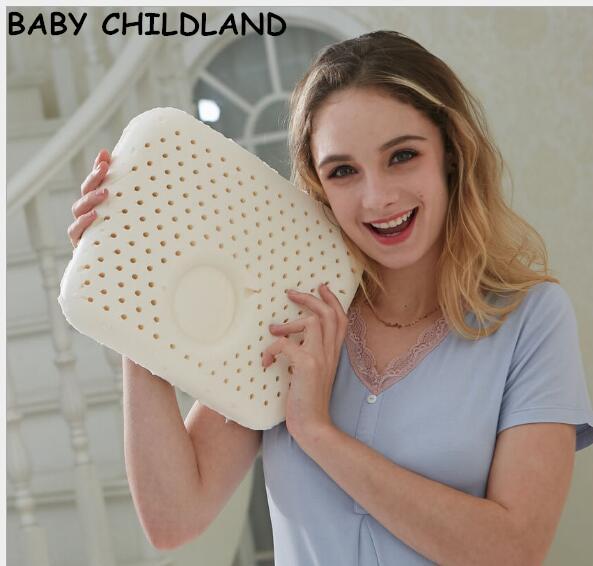 30*25 cm tailândia látex natual de cabeça do bebê travesseiro do bebê recém-nascido travesseiro pescoço proteção evitar plana bebê travesseiro do bebê jogo de cama