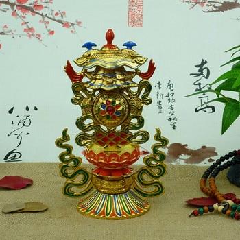 Tibetan Buddhism / eight auspicious  feng shui ornaments / combination of eight offerings (Liu Ji