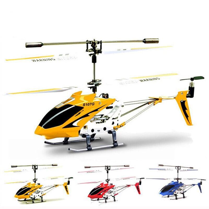 Original Syma S107G-três canais helicóptero de controle remoto anti-colisão anti-queda equipado com giroscópio liga aeronaves