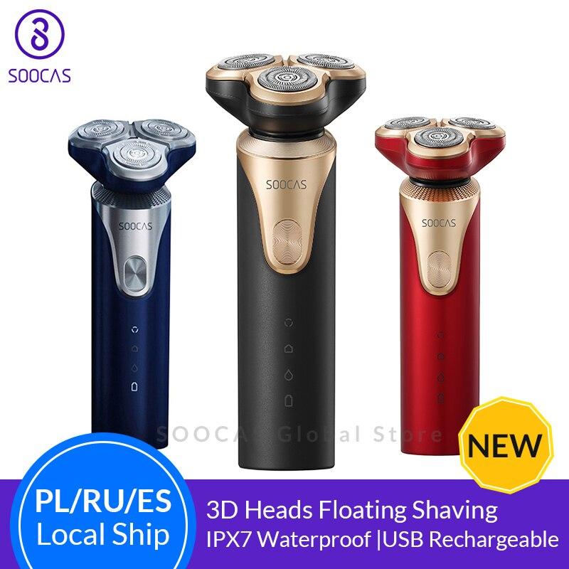 SOOCAS S3 rasoir électrique pour hommes 3 tête de coupe sèche humide rasage sans fil USB Rechargeable étanche rasoir pour Xiaomi Mijia-in Rasoirs électriques from Appareils ménagers    1
