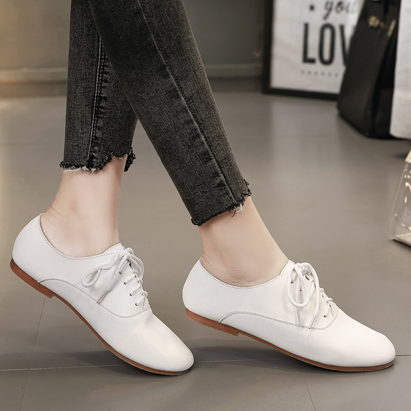 Punta Básico Marca Redonda Encaje Primavera otoño Mujer Zapatos Microfibra Roma Dulce Leisurec2 Pisos De Sólido vqdqY