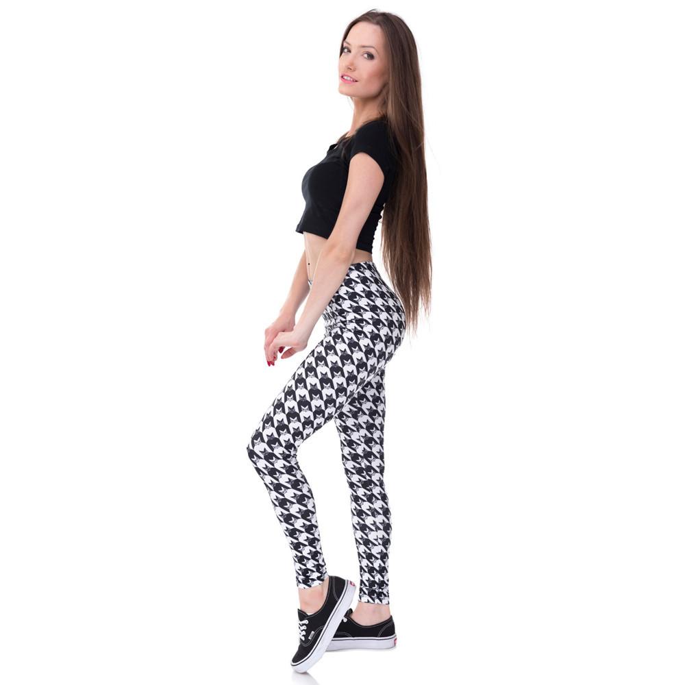 Zohra Brands Women Fashion Legging Aztec Round Ombre Printing leggins Slim High Waist Leggings Woman Pants 34