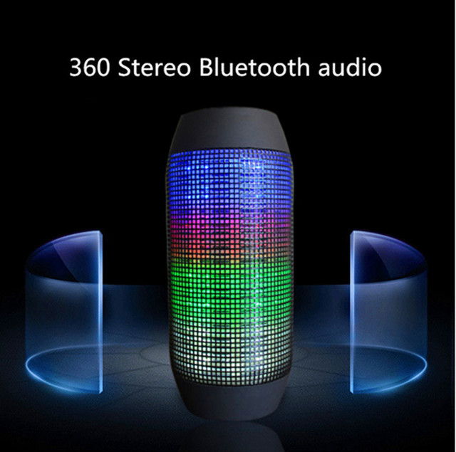 New Hot Pulse Portable Wireless Bluetooth Speaker Support Colorful 360 LED lights U-disck and TF card Outdoor Speaker