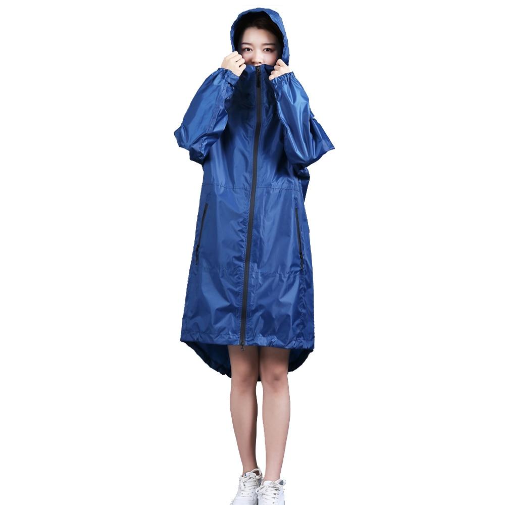 High quality fashion Women Ladies men waterproof Rain Coat Breathable Long Raincoats Portable hooded Raincoat with zipper in Raincoats from Home Garden
