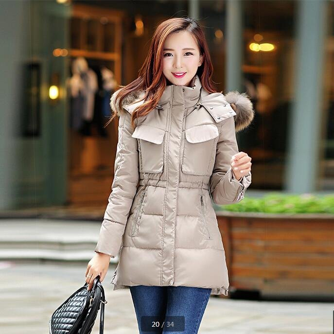 ФОТО Cheap wholesale 2017 new Autumn Winter Hot sale women's fashion casual YX1077 snow warm Coat waterproof Jacket