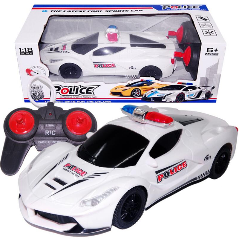 2018 1:18 4CH Police RC Car Model Baby Toys 4 Channels Remote Control Car Micro Racing Cars Kids Gifts Toys For Children Flash batman accelerometer remote control cars remote control cars children s toy car gifts for children