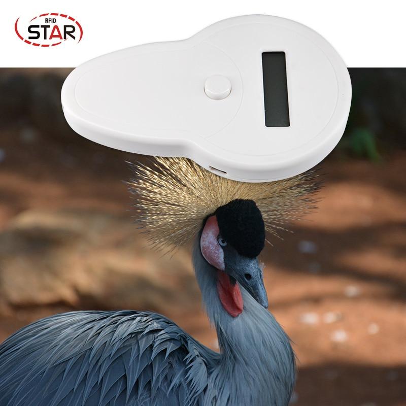 Portable animal handheld reader Convenient Pocket dog chip reader 134.2khz animal rfid tag reader Fdx b pet microchip scanner