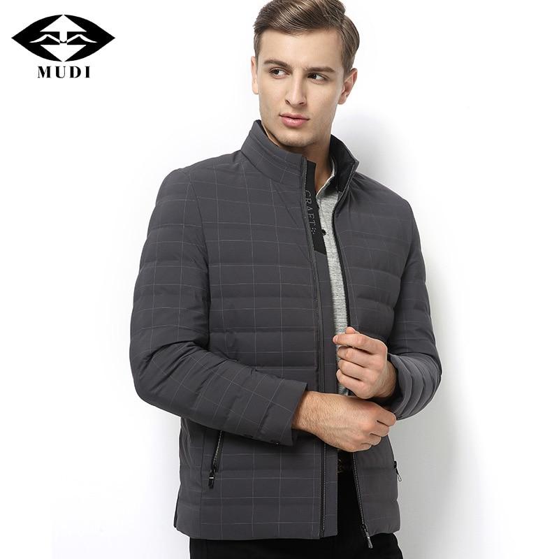 MUDI Mens Winter Jacket 90% Duck Down Coats Stand Collar Thick Warm Down Jacket Men Jackets Plus Size Black Coat Jacket5XL 6XL