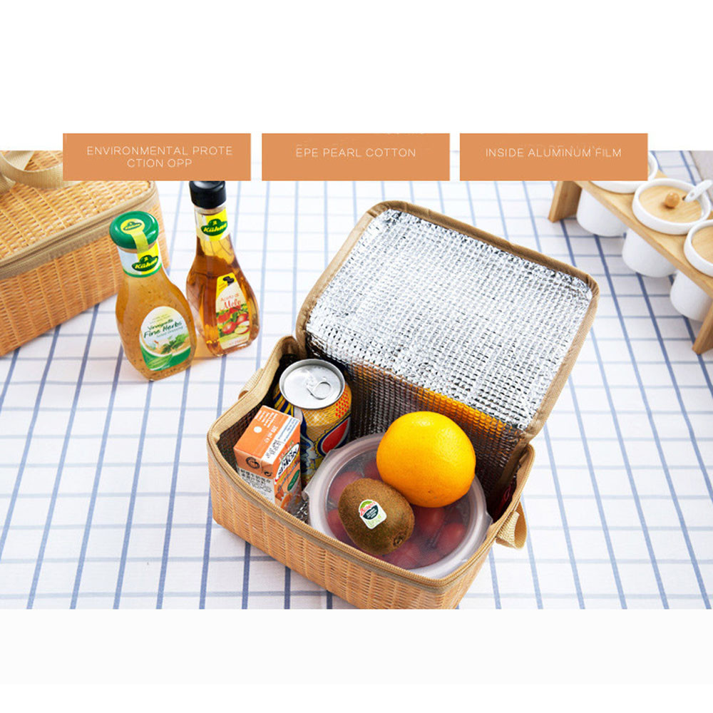 Portable Insulated Thermal Cooler Lunch Box Tote Storage Bag Picnic Container Lunch Bag Portable Picnic Food Storage Bag 2017