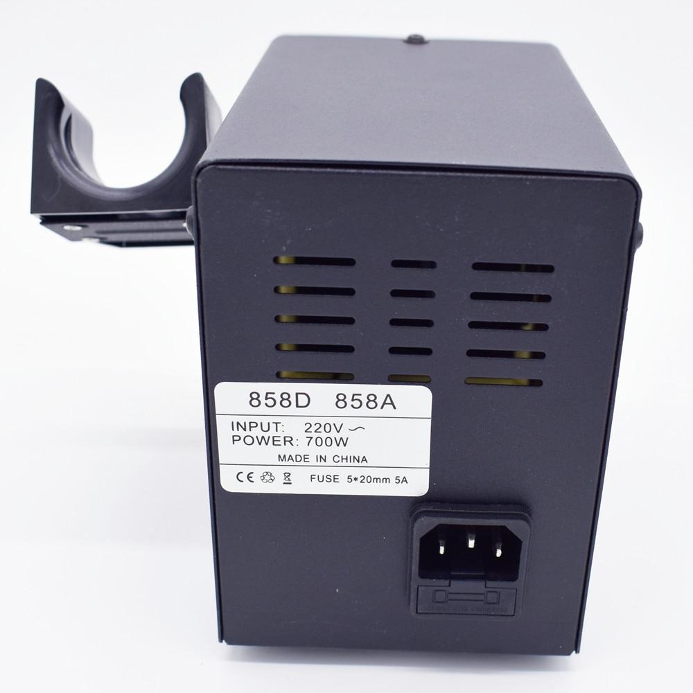 Tools : 700W 858D ESD Soldering Station LED Digital BGA Rework Solder Station Hot Air Gun   60W Electric iron tools set